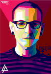Chester bennington (linkin park) wpap by ariefpeinz