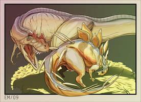 Ceratosaurus vs. Kentrosaurus by Wenamun