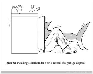 Garbage Disposal Shark by Wenamun