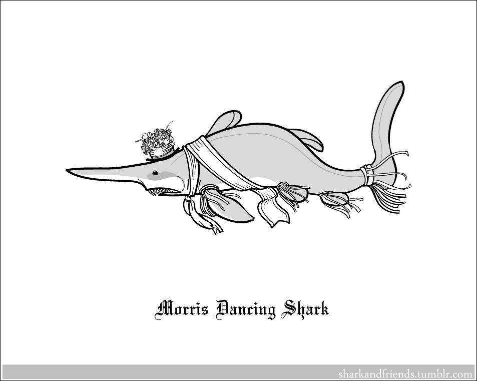 Morris Dancing Shark by Wenamun