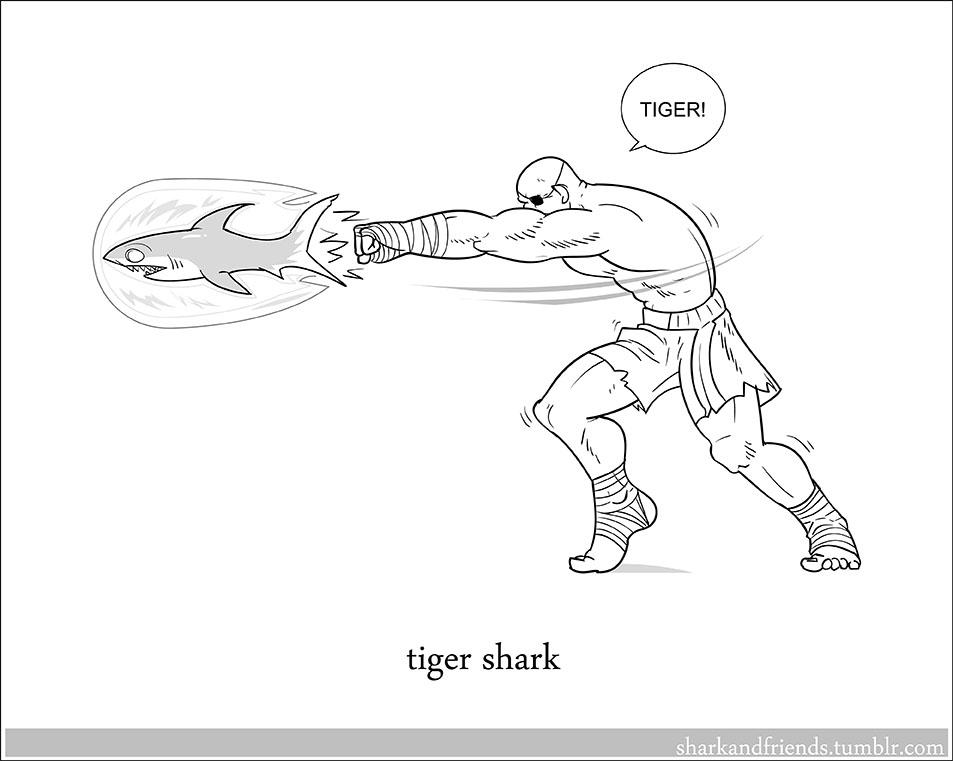 Tiger Shark by Wenamun