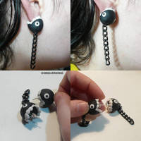 Chain Chomp Earrings by ChibiSilverWings