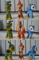 Gen 4 Starter Ponymon by ChibiSilverWings
