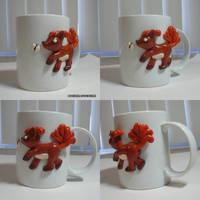 Vulpix Butterfly Mug by ChibiSilverWings