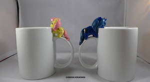 Luna And Fluttershy Coffee Cups by ChibiSilverWings
