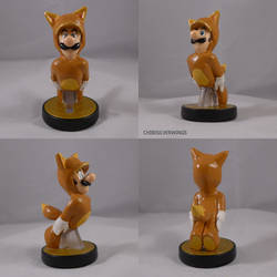 Luigi Kitsune Amiibo by ChibiSilverWings