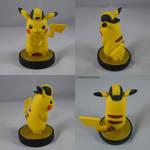 Pikachu Gold Hat Amiibo by ChibiSilverWings