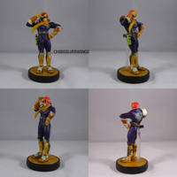 Captain Falcon Repose Salute by ChibiSilverWings