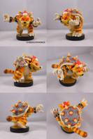 Meowser Custom Amiibo by ChibiSilverWings