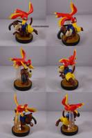 Duck Hunt Banjo Kazooie amiibo by ChibiSilverWings