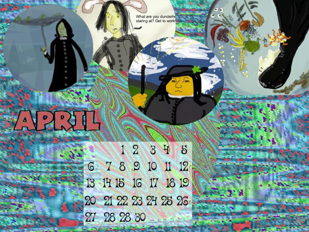 April 2008 Calendar 1024 X 768 By Thebitterword On Deviantart