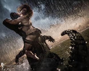 Kylah Fight Rain WIP1 - by Magnus Strindboem from  by thormanoftunder