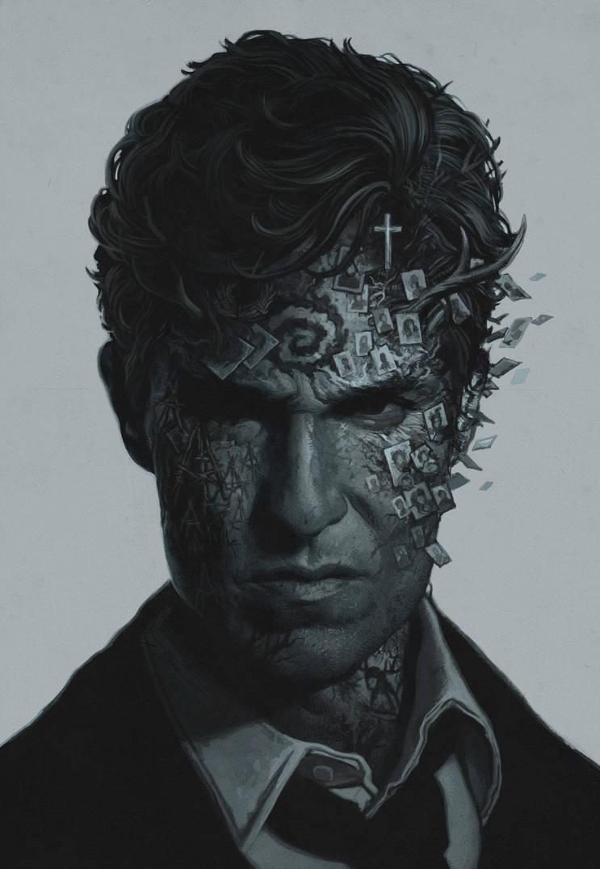 True Detective art by YURISHWEDOFF