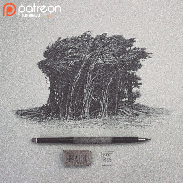 Trees Patreon sketch by YURISHWEDOFF