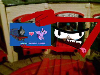 Thomas does not approve of ship!!! by JasperPie