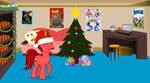 Jasper's Room Decked out for the Holidays by JasperPie