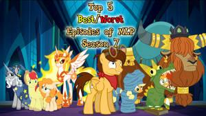 Best/Worst of MLP season 7 Title Card CMSN by JasperPie