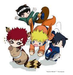 Chibis for 1000 HITS - Naruto by helyxzero