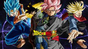 Goku Black And Vegito Blue Destruction Wallpaper by WindyEchoes