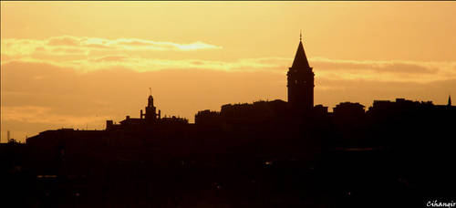 Istanbul Silhouette by VicomtedeValmont