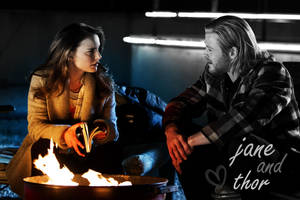 Thor and Jane by 1shewolf1