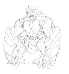 Giant Monster sketch by joemaos