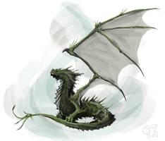 Green Wyrmling by Halycon450