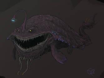 Gobul, the Lantern Fish Wyvern by Halycon450