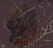 Rajang, the Great Golden Beast by Halycon450