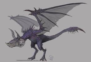 Yian Garuga, the Black Wolf Bird by Halycon450