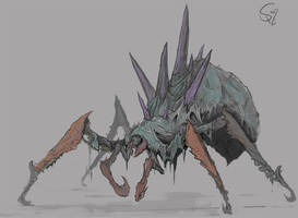 Nerscylla, the Shadow Spider by Halycon450