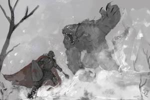 Snow Battle by Halycon450