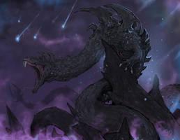 Dalamadur, the Serpent King Dragon by Halycon450