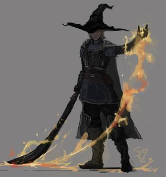 Dark Souls Pyromancer by Halycon450