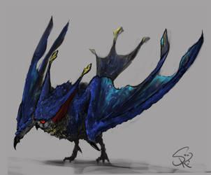 Malfestio, the Nocturnal Bird by Halycon450