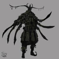 Blade adorned Sentinel by Halycon450