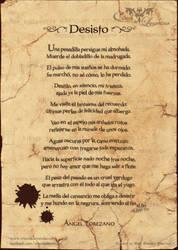 Poema: Desisto by crisoldeleyendas
