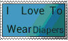 I love to wear diapers - stamp by Messylittlebaby