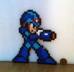 Megaman X Perler by 16bitsofplastic