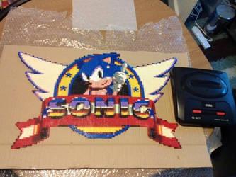 Sonic The Hedgehog Perler Of Insurmountable Size by 16bitsofplastic