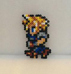 Cloud Perler (Final Fantasy 7) by 16bitsofplastic
