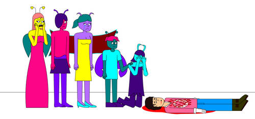 The Main 5 Crying Over V-Lengieal's Dead Body by Lengieal
