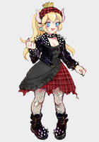 punk lolita bowsette by mikimanni