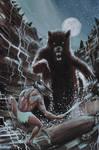 Conan vs. Bear by JoeRuff
