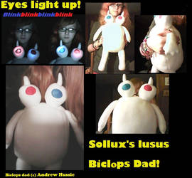 Homestuck Biclops Lusus Plush by ColorCoatedCalico