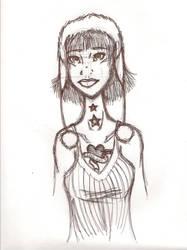 funny hat girl sketch by wishIwasBeastGirl