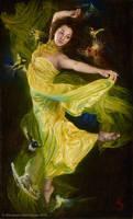 Enchanting Down Chorus, 40x24in, oil on linen by alexandramanukyan