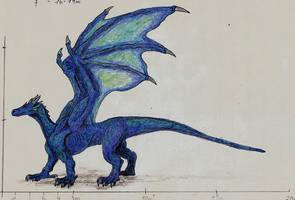 Blue dragon by Saeros2006