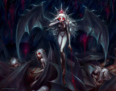 Queen of the little vampires by kir-tat
