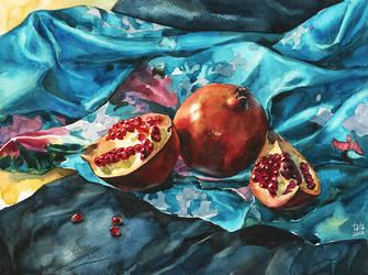 pomegranates by kir-tat